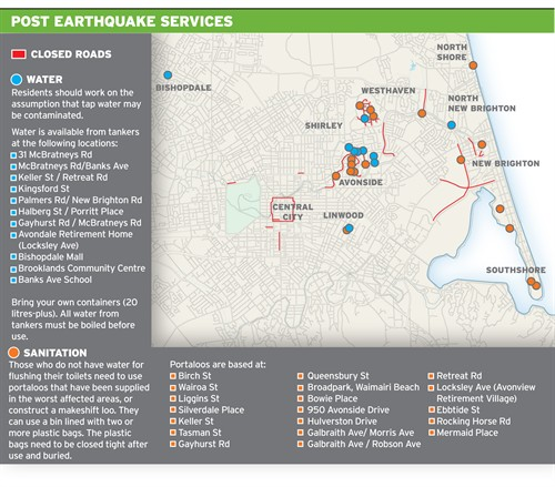 post-earthquake services