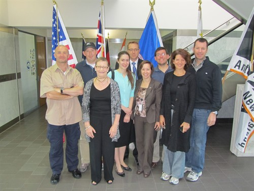 Members of the US Embassy in New Zealand at the International Antarctic Centre in Christchurch.