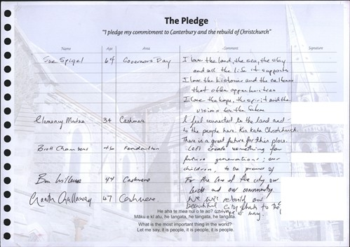 A page of The Pledge