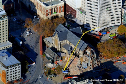 Aerial photograph of ChristChurch Cathedral