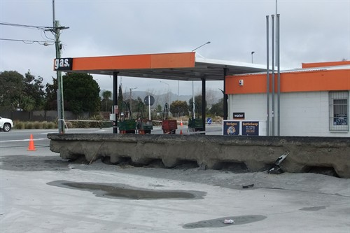 A petrol station near New Brighton