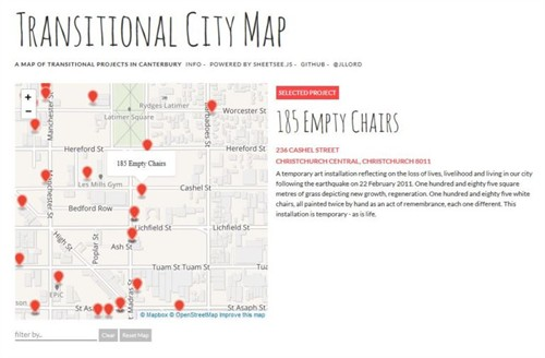 Transitional Cities Map