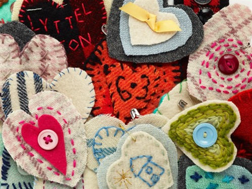 Lyttelton heart brooches